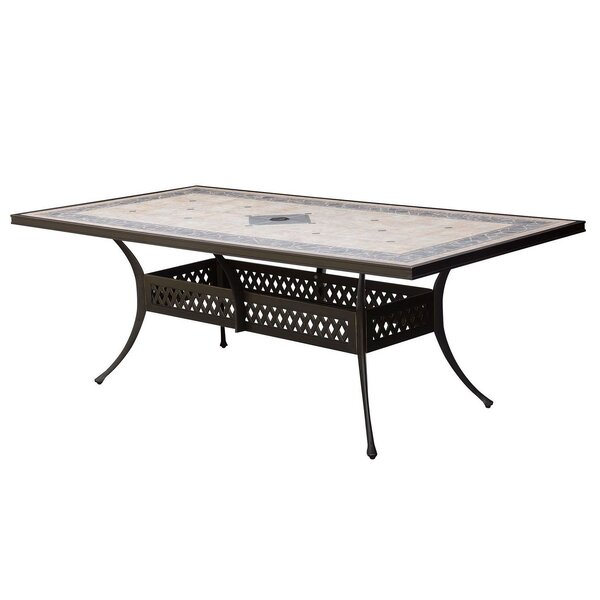 Cayuga Aluminum Dining Table by Canora Grey