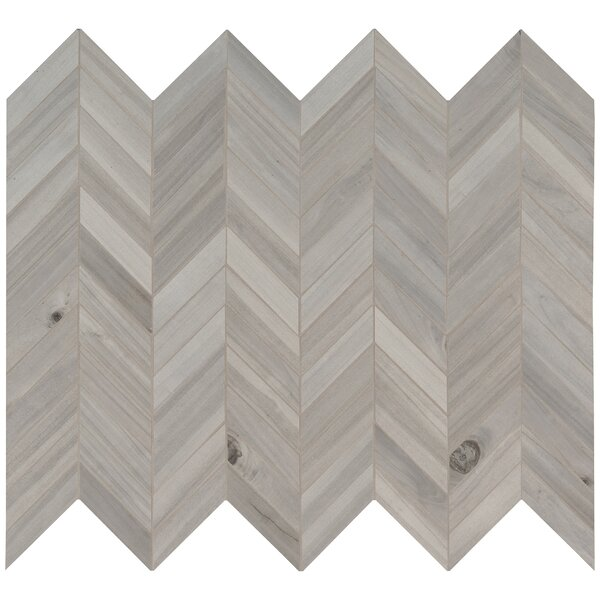Havenwood Chevron Porcelain Mosaic Tile in Gray by MSI