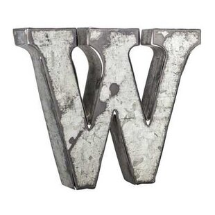 12 Inch Galvanized Letters Alluring Galvanized Metal Letters  Wayfair Review