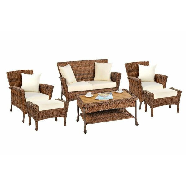 Runge Garden Patio 6 Piece Sofa Seating Group with Cushions by August Grove