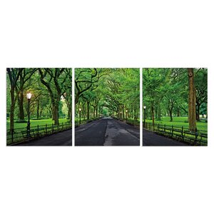 'Summer Central Park' Photographic Print Multi-Piece Image on Canvas by Latitude Run