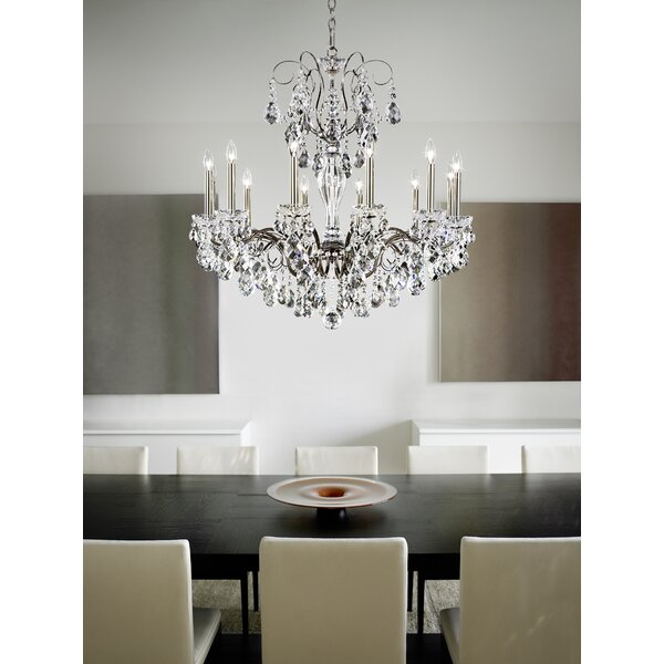 Sonatina 12-Light Candle Style Chandelier by Schonbek