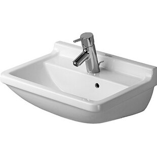 Look for Starck Ceramic 20 Wall Mount Bathroom Sink with Overflow By Duravit