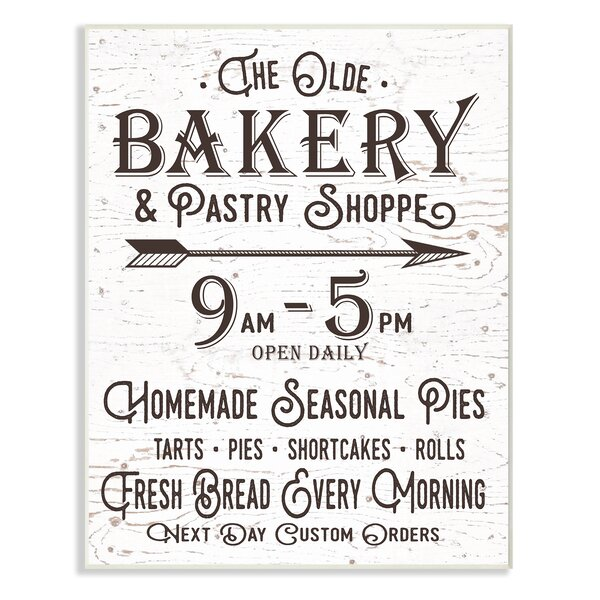 Vintage Sign 'The Old Bakery and Pastry Shop' Textual Art by Stupell Industries