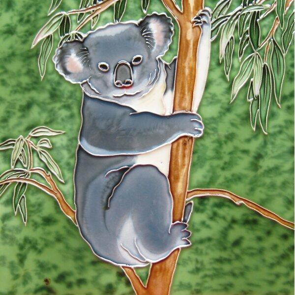 4 x 4 Ceramic Koala Decorative Mural Tile by Continental Art Center