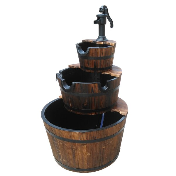 Wood 3 Stage Water Fountain II by Leigh Country