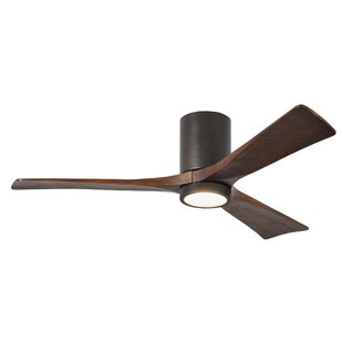 Dc motor equipped ceiling fans youll love wayfair 52 rosalind 3 blade hugger ceiling fan with wall remote and light kit aloadofball Image collections