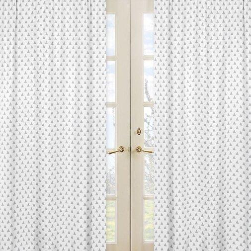 Mod Arrow Geometric Semi-Sheer Rod pocket Curtain Panels (Set of 2) by Sweet Jojo Designs