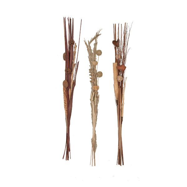 Tall Slim Dried Plant Bouquet Floral Arrangement (Set of 3) by Winston Porter