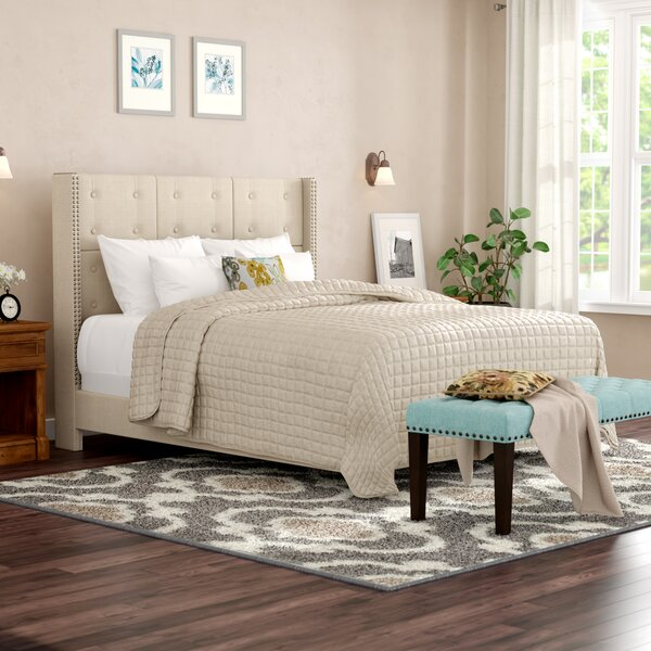 Euler Upholstered Panel Bed by Darby Home Co