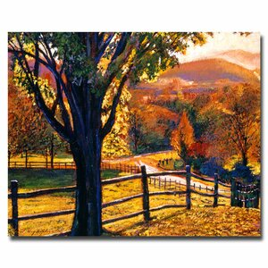 Autumn Fire Colors by David Lloyd Glover Painting Print on Wrapped Canvas by Trademark Fine Art