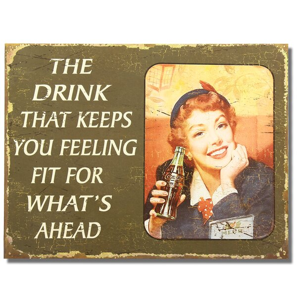 The Drink That Keeps You Feeing Fit  Wall Décor by Adeco Trading