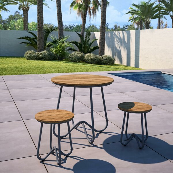 Bobbi Outdoor 3 Piece Bistro Set by Novogratz