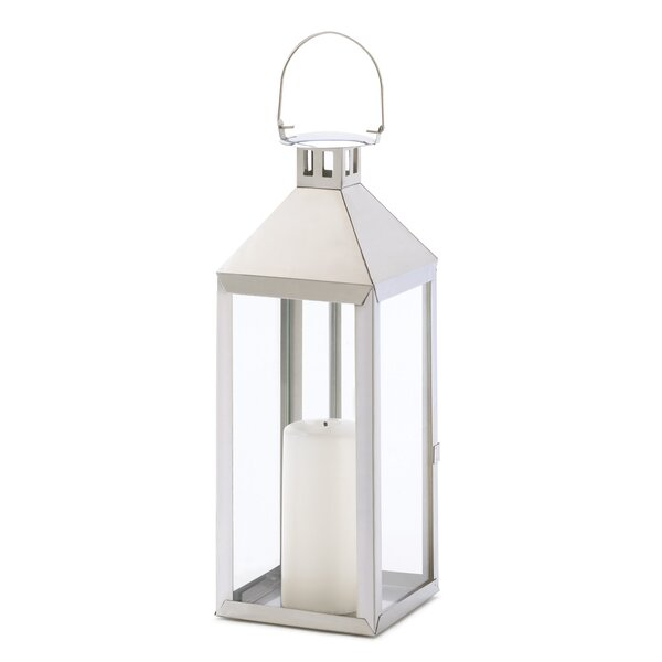 Soho Stainless Steel and Glass Lantern by Zingz & Thingz