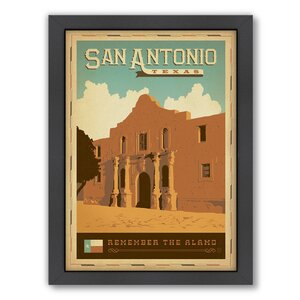 San Antonio by Anderson Design Group Framed Vintage Advertisement by Americanflat