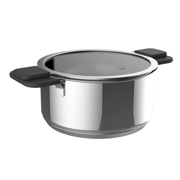 Stainless Steel Inductive Pot Set with Lids by Ozeri