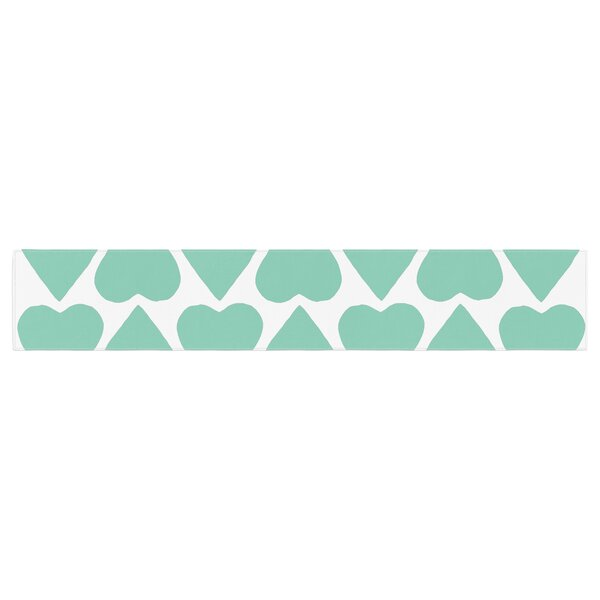 Project M up and Down Heart Table Runner by East Urban Home