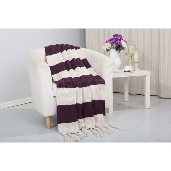 Coggins Classic Woven Knitted 2-Tone Throw by Alcott Hill