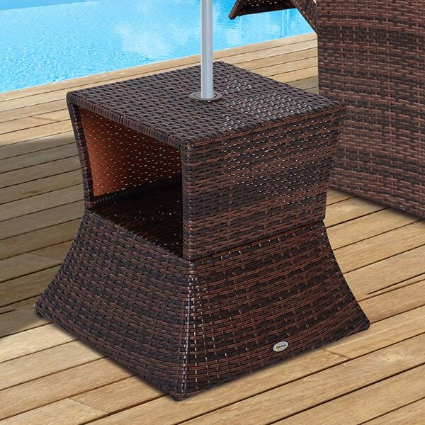 Lorelei Wicker/Rattan Side Table By Bay Isle Home by Bay Isle Home Today Only Sale