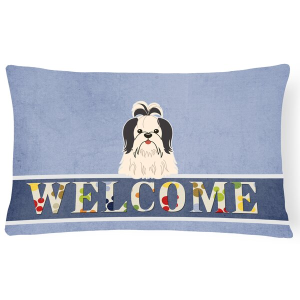 Rennerdale Shih Tzu Welcome Lumbar Pillow by Red Barrel Studio