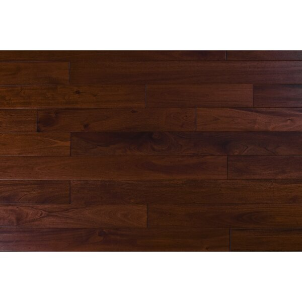 4.75 Solid Mahogany Hardwood Flooring in Natural Santos by Albero Valley