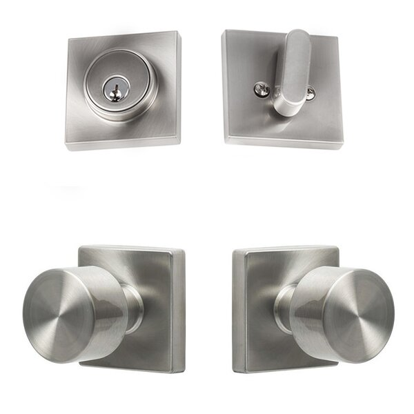 Bergen Single Cylinder 4 Piece Entrance Knobset by Sure-Loc Hardware