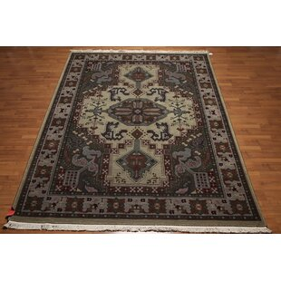 Ranstead Heriz Wool Olive Green Area Rug