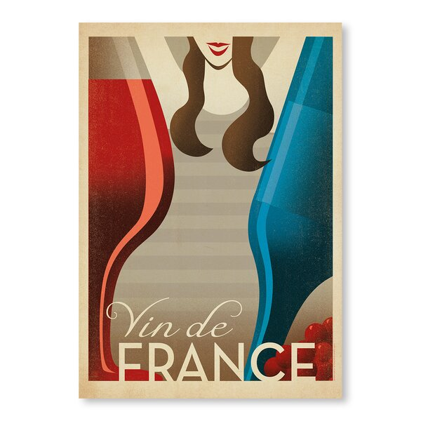 Vin De France Vintage Advertisement by East Urban Home