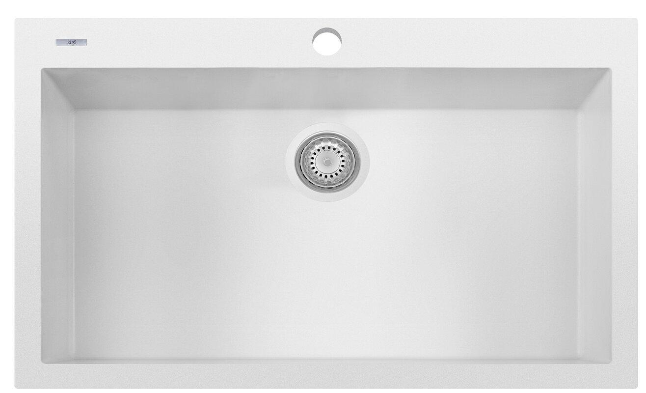 granite composite 33   x 22   single bowl drop in kitchen sink alfi brand granite composite 33   x 22   single bowl drop in kitchen      rh   wayfair com