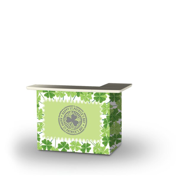 Zaffelare St Patricks Day Four Leaf Clovers Home Bar by East Urban Home
