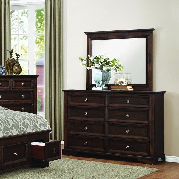 Eunice 8 Drawer Double Dresser with Mirror by Homelegance