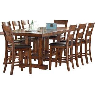 9 Piece Counter Height Extendable Dining Set ByMistana