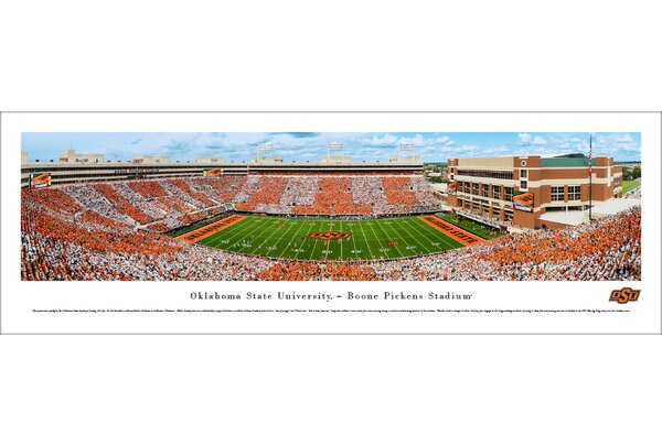 NCAA Oklahoma State Football Stripe Game Photographic Print by Blakeway Worldwide Panoramas, Inc