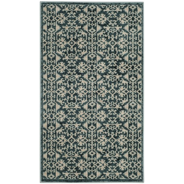 Zennia Turquoise Area Rug by Bungalow Rose