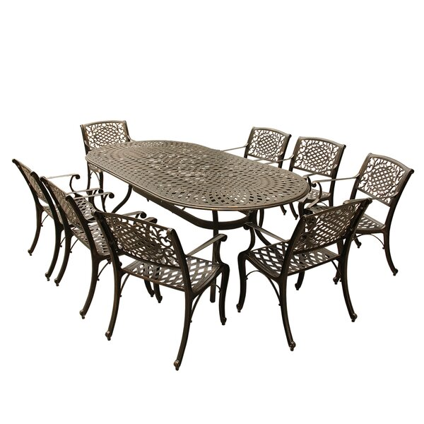Cantara 9 Piece Dining Set by Fleur De Lis Living