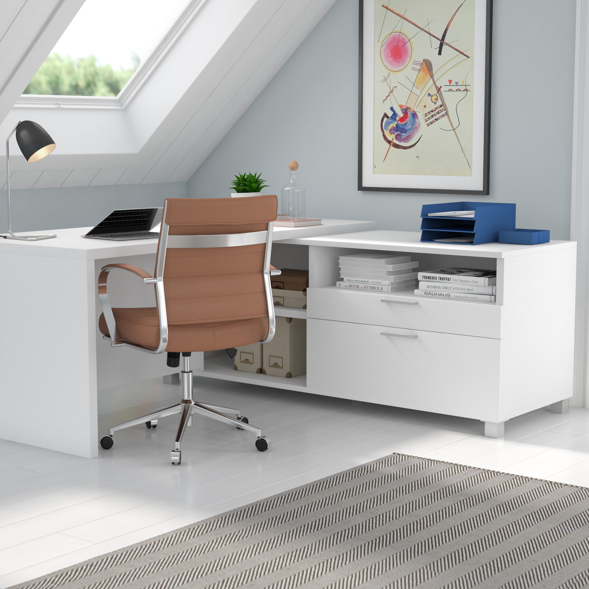 Mercury Row Ariana L Shape Executive Desk U0026 Reviews | Wayfair