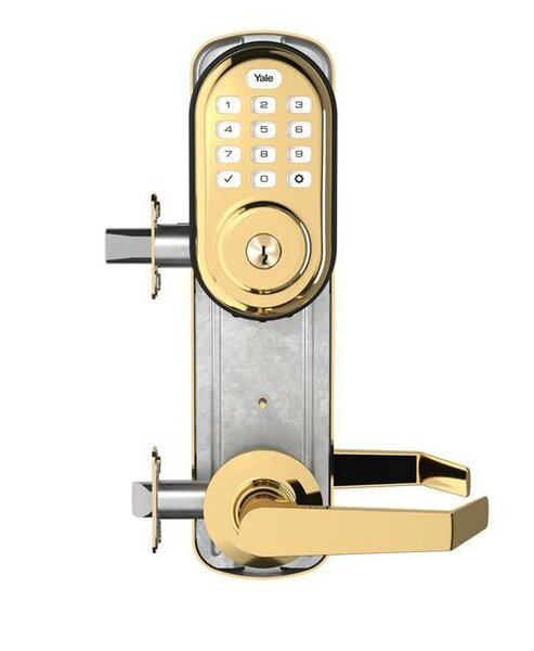 Yale Real Living YRC216NRNW5619 Assure Lock Push Button Stand Alone Norwood Interconnected Lockset and Deadbolt Satin Nickel Finish by Yale
