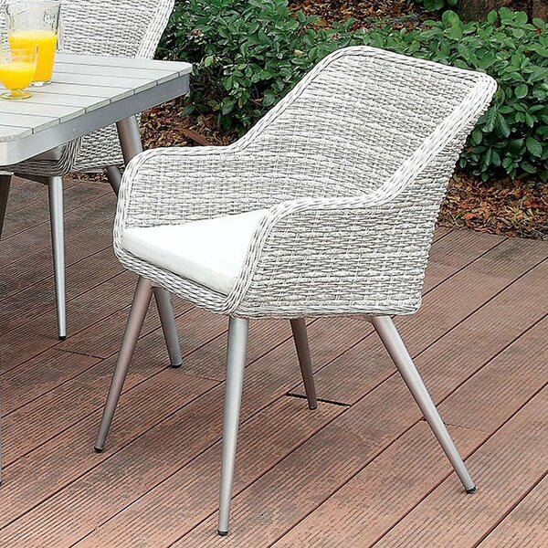 Brenton Patio Dining Chair with Cushion by Corrigan Studio