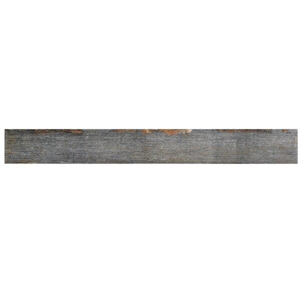 Rama 2.75 x 23.5 Porcelain Wood Look/Field Tile in Gray by EliteTile
