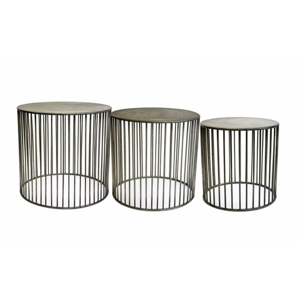 Leddy Vertigo 3 Piece Nesting Tables by 17 Stories