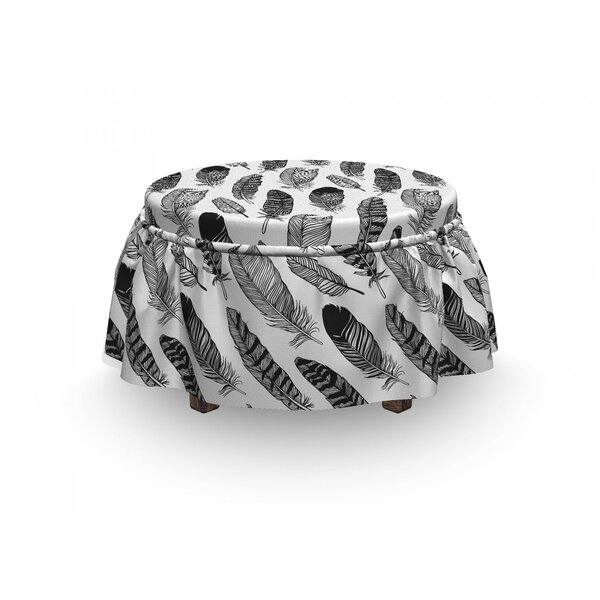 Review Feathers Hippie Fashion Ottoman Slipcover (Set Of 2)