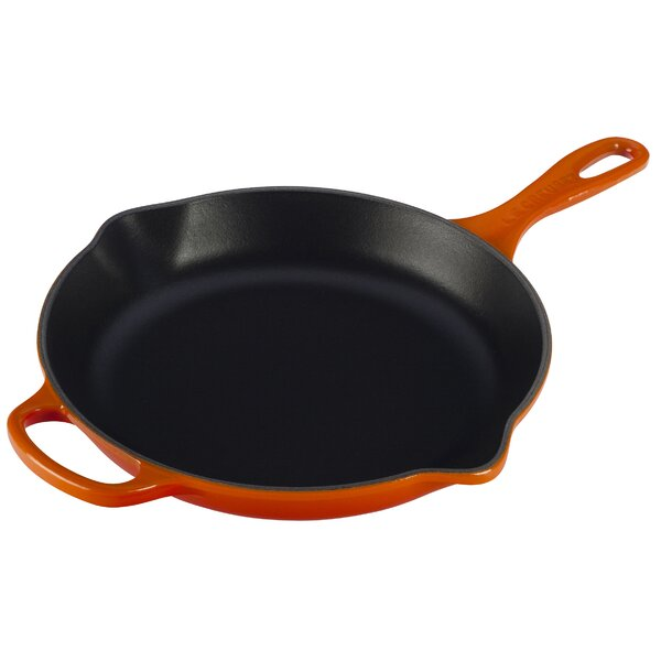 Enameled Cast Iron Signature Handle Skillet by Le