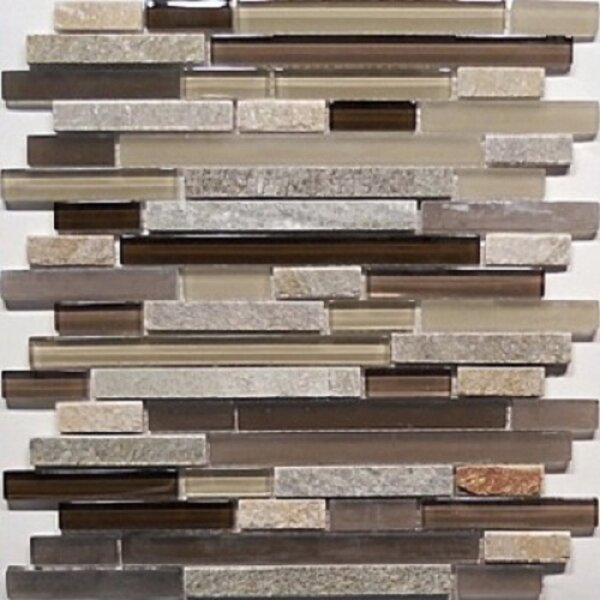 Bar Quartz 0.63 x 0.63 Natural Stone Mosaic Tile in Chocolate by Travis Tile Sales