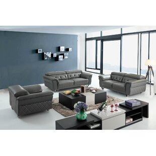 Coalpit Heath Leather 3 Piece Living Room Set Low Price.