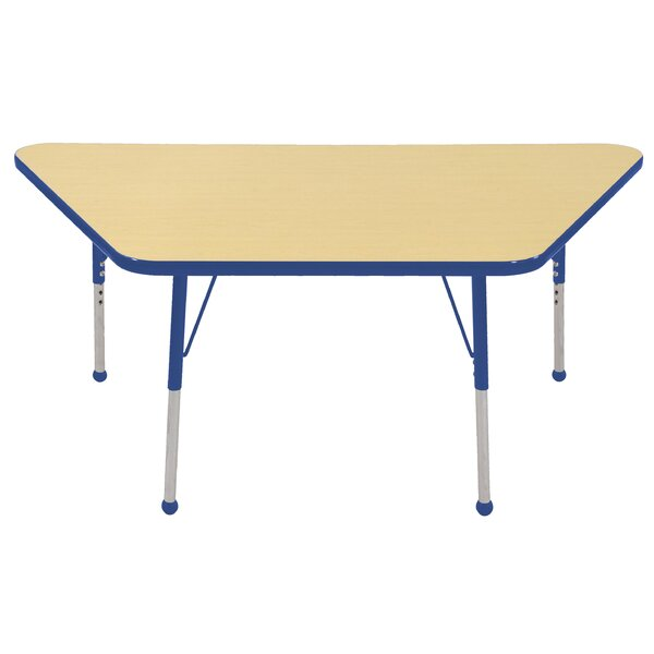 Thermo-Fused Adjustable 30 x 60 Trapezoidal Activity Table by ECR4kids