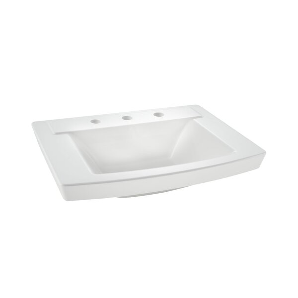 Townsend 16 Pedestal Bathroom Sink with Overflow b