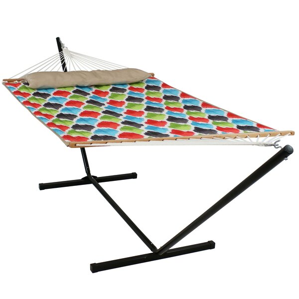 Freer Quilted Double Spreader Bar Hammock with Stand by Winston Porter Winston Porter