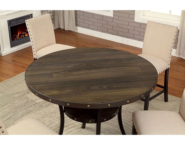 Rigby Round Counter Height Dining Table by Alcott Hill