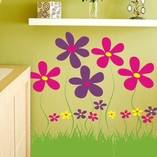 Field of Flowers Wall Decal by Alphabet Garden Designs