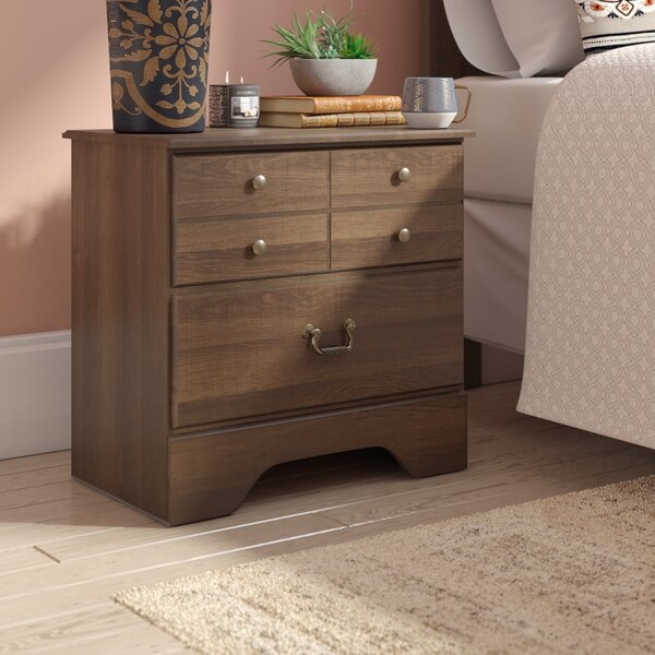 Devondra 2 Drawer Nightstand by World Menagerie